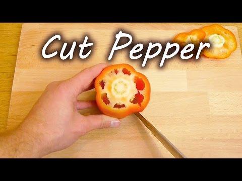 come tagliare un peperone in pochi secondi