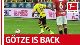 Mario Götze has returned! ▻ Sub now: https://redirect.bundesliga.com/_bwCS After almost six months away from the action, Mario...