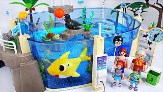 Video Let's go to Playmobil Family Fun Aquarium with Sea! Baby Shark, Nemo is playing! - PinkyPopTOY MP3, 3GP, MP4, WEBM, AVI, FLV Juli 2018