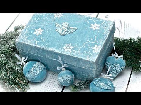 decoupage - scatola natalizia