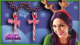 Christmas Crafts for kids, How to make Candy Cane Reindeer