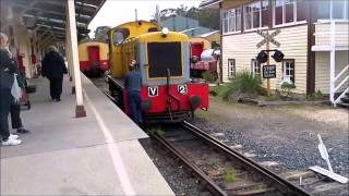 The Don River Railway near Davenport in Tasmania has an impressive collection of ex Tasmanian Rail Locos and stock. Passenger trains havent run down there since 1978 and the Government wont allow passenger trains to run on the remaining lines. They have a bit of track they run on, woth the trip to see.