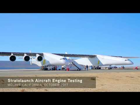 Stratolaunch - Heavy Rocket Launcher Aircraft Engine Test [2160p]