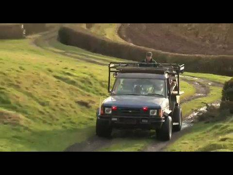 Fieldsports Britain - Rabbitting vehicle you can drive from the roof