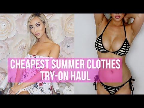 CHEAPEST SUMMER CLOTHES TRY-ON HAUL - AMI CLUBWEAR  | Arika Sato