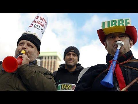 Ισπανία: Οδηγοί ταξί κατά Uber