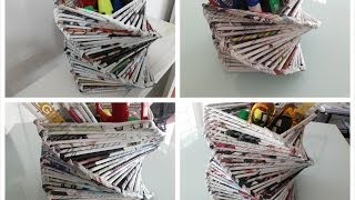 DIY Room or Home Decoration / Recycled Old Magazine - YouTube