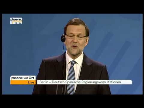 Spanischer Premierminister in Berlin: Demonstration von Spaniern