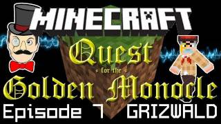 Minecraft Adventure: Redstone Keys, Guard Dog&Run for the Hills! Quest for Golden Monocle PART 7!