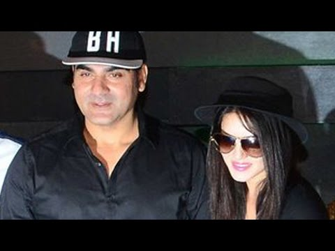 Arbaaz Khan And Sunny Leone At Film Tera Intezaar'