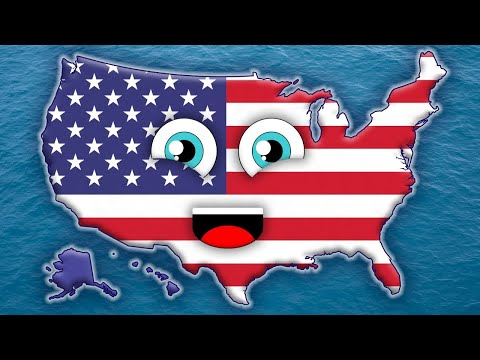50 States Song for Kids/50 States and Capitals for Children/USA 50 States (видео)