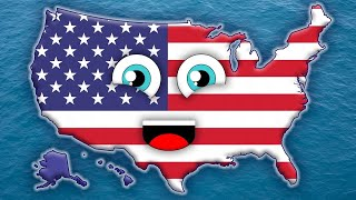50 States Song for Kids/50 States and Capitals for Children/USA 50 States