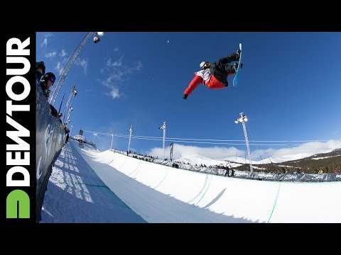 Greg Bretz - With an incredible run, Greg Bretz wins a well deserved first place during Men's Snowboard Superpipe. Subscribe to the Dew Tour channel! http://www.youtube.c...