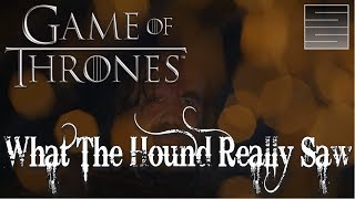 "Game Of Thrones Season 7 Episode 1 - The Hounds VisionSubscribe! http://tinyurl.com/o93l5gnMerch: https://teespring.com/stores/smokescreenvids**Spoilers**Game of Thrones Season 7 is here! Game Of Thrones Season 7 Episode 1 ""Dragonstone"" contained a vision seen by the Hound in the flames. Did a removed line tell us where the white walkers are heading? The Game Of Thrones Season 7 premiere may have removed a clue to the endgame for Game Of Thrones. Overall a great Game of Thrones Season 7 premiere! Thanks for watching! Please like, share and subscribe!Cited Article: http://www.independent.co.uk/arts-entertainment/tv/news/game-of-thrones-season-7-episode-1-dragonstone-the-hound-fire-vision-cut-line-the-wall-white-walkers-a7846696.htmlA Dragon Raised By Wolves: https://www.youtube.com/playlist?list=PLmRQBLduDYDQP1OjDLR4L2oNxw4qz1-VEGame of Thrones Season 7 Playlist: https://www.youtube.com/playlist?list=PLmRQBLduDYDQRHGVugBO5-L6XfCGaV5pcSupport SmokeScreen on Patreon: https://www.patreon.com/smokescreenvidsOne Time Donate: https://youtube.streamlabs.com/smokescreenvids1Game of Thrones Foreshadowinghttps://www.youtube.com/playlist?list=PLmRQBLduDYDQRHGVugBO5-L6XfCGaV5pcCheck my other channels!SmokeScreen Vlogs: https://www.youtube.com/smokescreenvlogsSmokeScreen Gaming: https://www.youtube.com/smokescreenvidsgaming_____________________________________________________Become a Patreon: https://www.patreon.com/smokescreenvidsGet My Nerdy T-Shirts here: http://shrsl.com/?~aby2Support SmokeScreen by shopping on Amazon: http://tinyurl.com/ppogxl2Shop Think Geek: http://www.jdoqocy.com/click-8070392-12561902-1460987025000GeekFuel (get a GOT item in your first box) https://www.geekfuel.com/smokescreen_____________________________________________________Playlists:Game of Thrones / ASOIAF: https://www.youtube.com/playlist?list=PLmRQBLduDYDSph052nREYMIpDlUHzJlPBWestworld Season 1: https://www.youtube.com/playlist?list=PLmRQBLduDYDRbXeC-bdFWC_WJ3CmykSUHStar Wars: https://www.youtube.com/playlist?list=PLmRQBLduDYDSyW8W17-AxNYLjetGQvDkm______________________________________________________Send Stuff:Lochmoor ProductionsPO Box 1011Kannapolis, NC 28083Follow Me on Social: Facebook: https://www.facebook.com/smokescreenvidsTwitter: https://twitter.com/smokescreenvids @smokescreenvidsInstagram: https://instagram.com/smokescreenvids @smokescreenvidsWebsite: http://smokescreenvids.comPatreon Executive Producers:Hoss Griffin, VolGuy10, Lala Gig , Kissa Powell, Marc Joseph aka The Snow In Winterfell, Marylin Bentley, JoAnna, Sean Hayes, Doc Holiday, Anonymous, Goska, HoonJive, KieranD20, Nicki Snow, Lo Horton, Erin Habig, Ashley Mae, Brian Solarz, Dean BwellPatreon Producers: John Carey, KSoze1024, Lauren Young ,Sarah Pearce, Jessica McWhorter, Lori Perry, Peach, Lo Horton, Anie Smith, Maureen Grigas, Nicole Kron, Andreas Aass, Vitruvius, MamaQB, Trishyjane, Ashley Smith, Jack Welsh, Claire McKen, Red River Giant, Lauren Wagstaff, Robert Thatcher, Calebflub, Jason Targaryen, Heath Hinton, Richard Clark, Andrew Smith, Goska Biczysko, Karri Neves, Demetrios, Kathryn Bassett, Pri Figueirdo, Maie, Sanford Hoffman, Heddy Hop, Ricky, Stacy Fournet, Anesha Smith, Darrin Reisinger, Zombie Hoax, Lawrence Froncek, Tameka, Steve Mckenna, Jessy C., Joe Gaylord, Cait, Luis Teleno, Magaly , Taylor, Marilyn Benitez, Amber Tilton, Jenni Upcott, Kimberly Sherman, Betsy Leiss, Joanne Long, KatS, The Sennett, CinnE, Michele, Dale Cooper, Denny D'Intino, Nynke Bouma, Jamal, AvecRali, Killerfrost419, Kimberly Genova, Lady Laxara, Carol Funk, Keltia Breton, Vasilie Crisan, Alexis Bell, Ygritte's Bow, Bolo7678, Mayra Perez Colon, Shawn Shifflett, Hairless Oyster, Barbara Chetti, Shahade Fonville, Crawdaddct, Stephen Robinson"