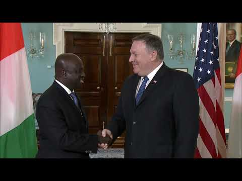 Secretary Pompeo meets with Cote d'Ivoire Foreign Minister Amon-Tanoh
