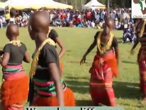CA children dancing a traditional Buganda dance in Kabale, Uganda