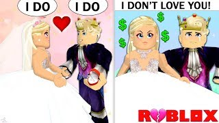 GOLD DIGGER TRICKS RICH PRINCE INTO MARRYING HER! A Roblox Story