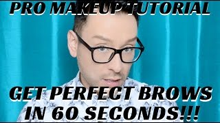 In this STEP BY STEP BEAUTY TUTORIAL I will demonstrate how to get PERFECT BROWS IN 60 SECONDS! No need to spend an hour perfecting your brow fill in with th...