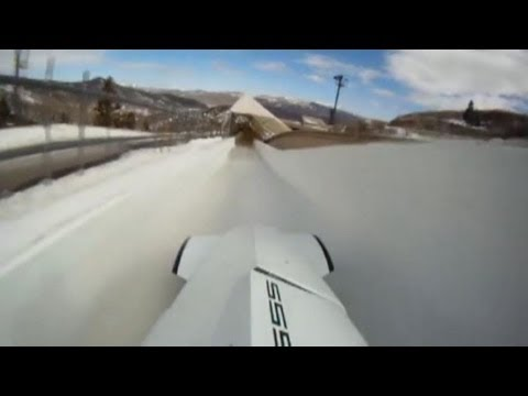 Sliding down a mountain at 75 MPH taking 5 G's… just another day at work.