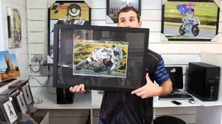 16x24 inch framed originally signed photo of Ruben Xaus
