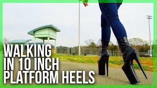 Video WALKING in EXTREME 10inch (24 CM) heels at the Park | 6 Inch Platform | Pleaser Beyond 1020 MP3, 3GP, MP4, WEBM, AVI, FLV Juni 2018