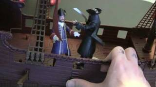 Pirates Of The Caribbean On Stranger Tides Queen Annes Revenge Playset Movie Toy Review