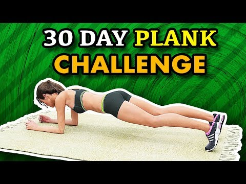 30 Day Plank Challenge At Home - Lose Body Fat, Get Skinny