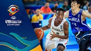Watch the full game Angola v Korea at the FIBA U19 Basketball World Cup 2017. ▻▻ Subscribe: http://fiba.com/subYT Click here for more: ...