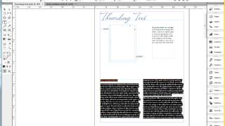 Donna Caldwell CS 72 11A Adobe InDesign 1 Threading Basics 04 28 2013
