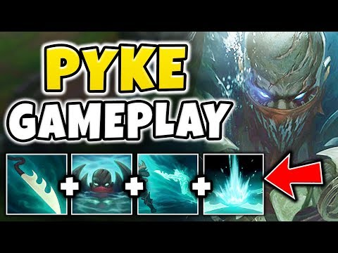 NEW CHAMPION PYKE IS RIDICULOUSLY BROKEN! TRUE DMG ULT RESETS + MOBILITY!! - League of Legends (видео)