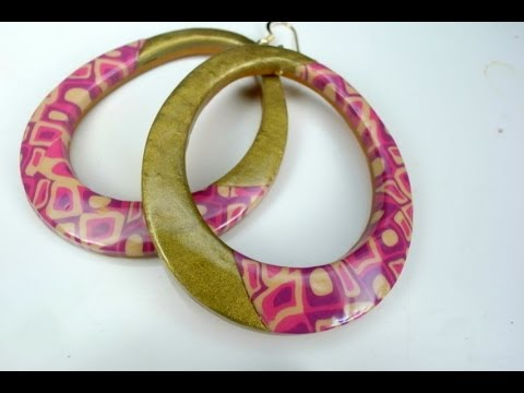 fimo - orecchini mosaico