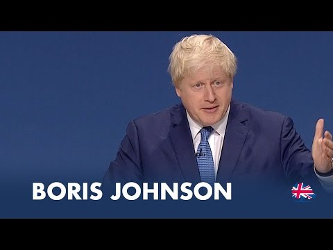 Conference - Boris Johnson, Mayor of London, speaks at Conservative Party Conference 2014.