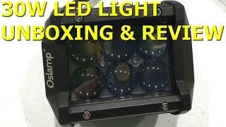 Oslamp 4″ 30W LED Work Light Review