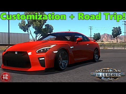 American Truck Simulator: 2017 Nissan GT-R! Road Trip To The Mountains (видео)