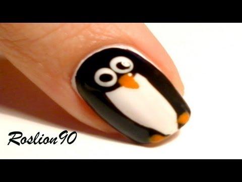 simpaticissima nail art pinguino!