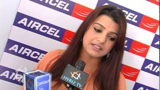 Actress Tashu Kaushik at Aircel 3G Mornings Event