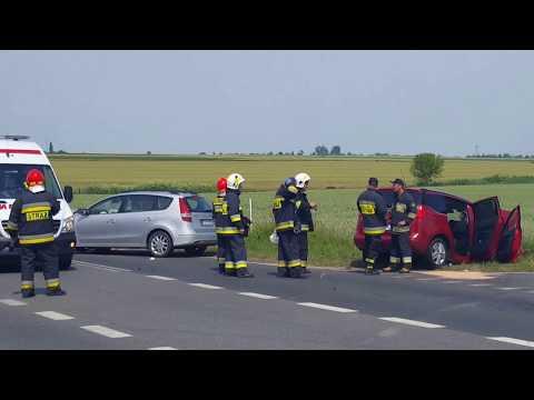 Wideo1: Wypadek na trasie DW 434 Krobia - Rawicz