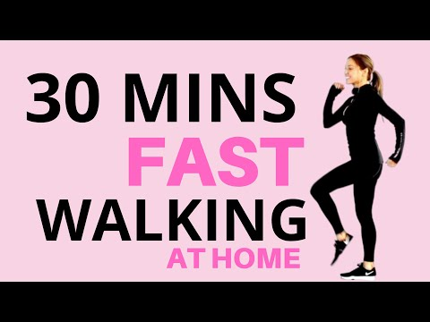30 MINUTE WALKING AT HOME | FAST WALKING FITNESS | EXERCISE VIDEO TO LOSE WEIGHT  Lucy Wyndham-Read