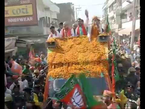 Shri Amit Shah's road show from Allahpur to Ghantaghar, Allahabad, Uttar Pradesh : 21.02.2017