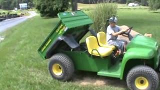 9. John Deere 4X2 Gator Power Dump Bed 304 Hours Very Nice For Sale