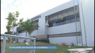 PF desmantela quadrilha que desviava cigarros de dentro do galpão da Receita Federal