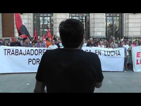 Concentración de Alumalsa el 8 de junio de 2015