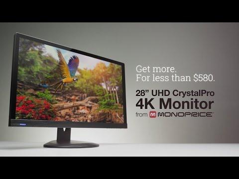 "28"" UHD CrystalPro 4K Monitor from Monoprice"