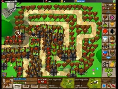 Bloons Tower Defense 5 - Creative Strategies - Only Dart Monkeys