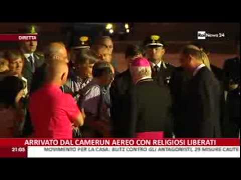 Arrivati a Roma i religiosi liberati: ad accoglierli il Ministro Mogherini