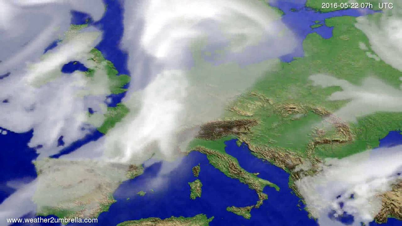 Cloud forecast Europe 2016-05-18
