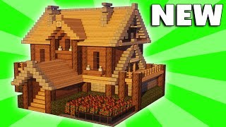 Minecraft: How To Build A Large Suburban House Tutorial