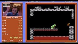 [WR] Super Mario Bros. Speedrun in 4:55.913