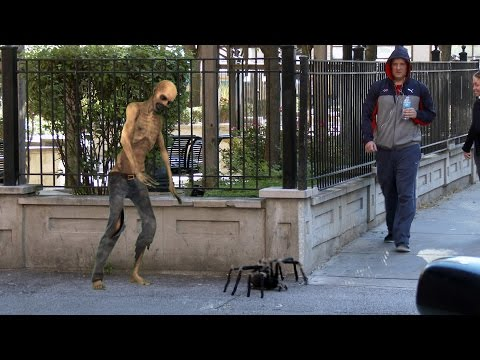Big Spider Attack In The City Prank