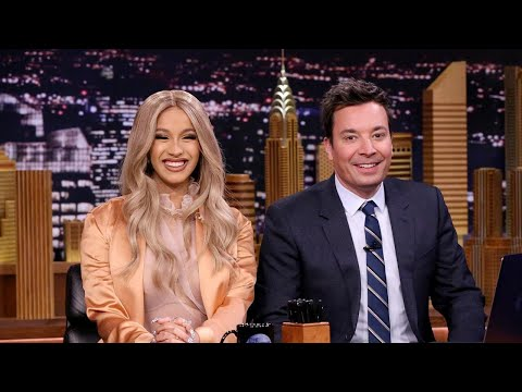Pregnant Cardi B Hilariously Co-Hosts 'The Tonight Show' With Jimmy Fallon: Watch!